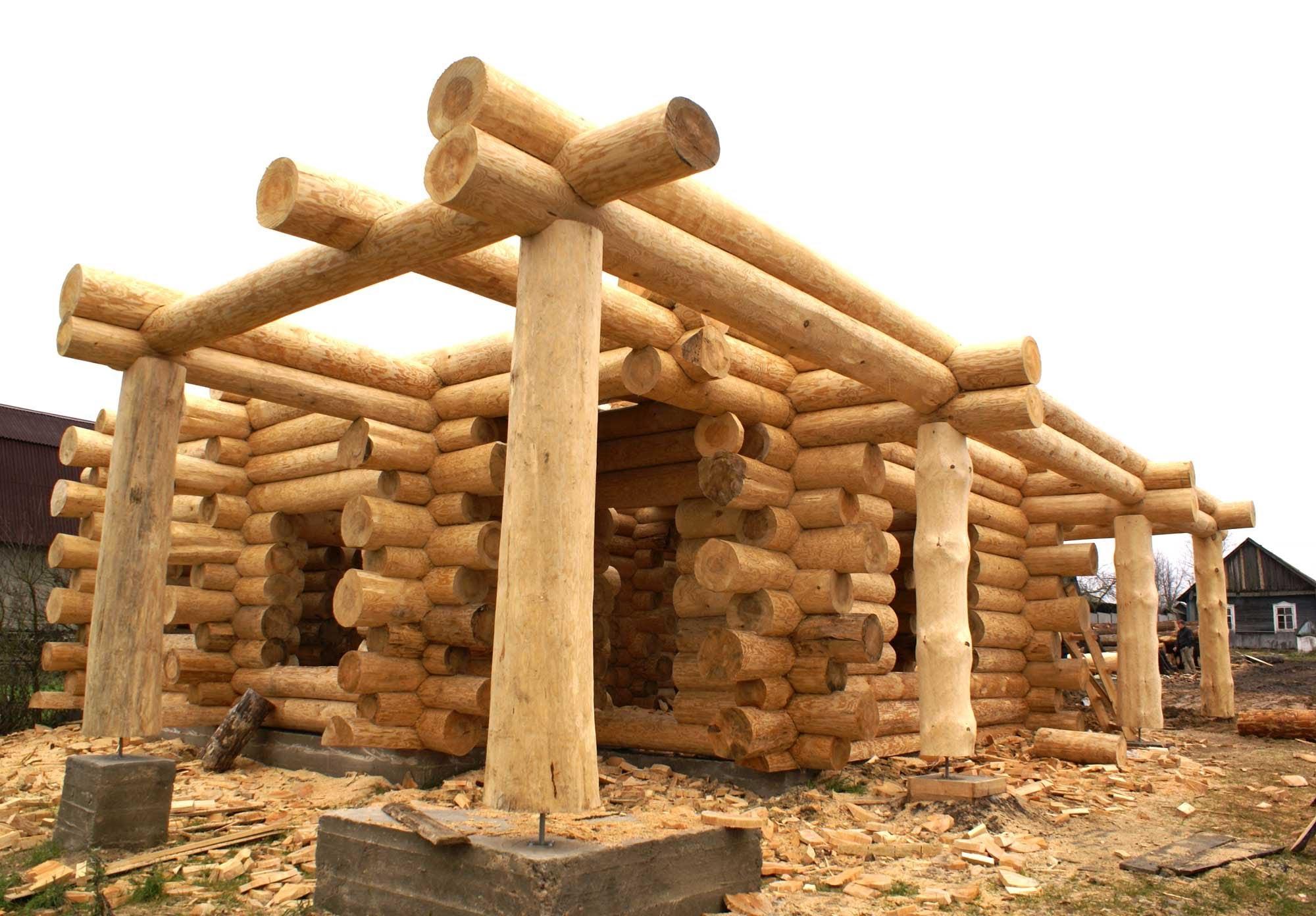 Строим дом из бревен своими руками